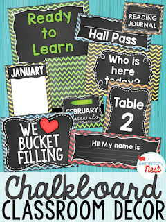 Chalkboard Themed- Classroom Decor Collection to transform your classroom- pick a scheme or a theme to make your classroom decorated and organized