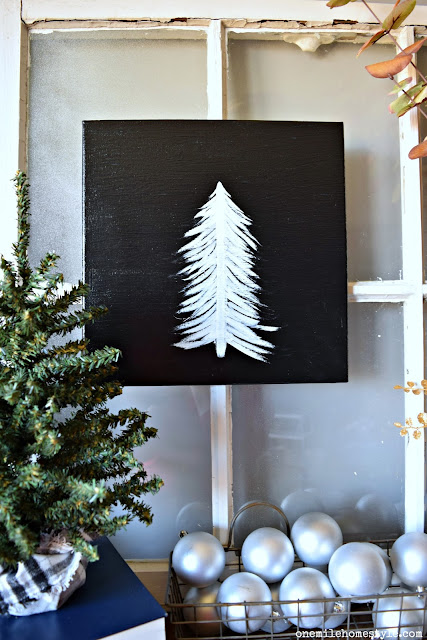 Easy DIY art project - how to create your own black and white holiday art
