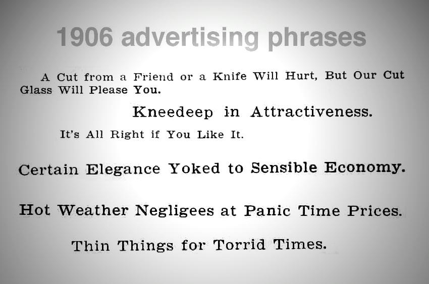 1906 advertising slogans