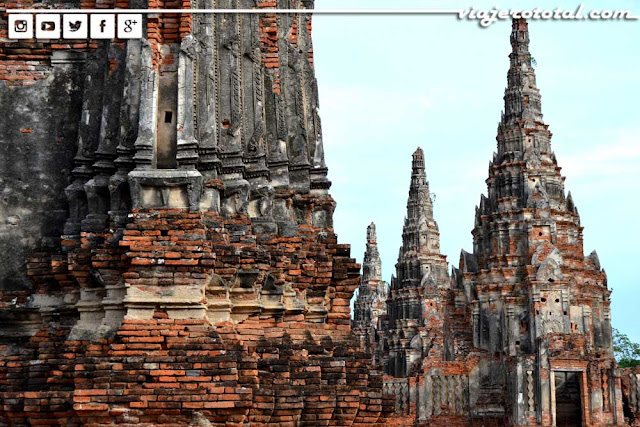 Templo Wat Chai Wattanaram de Ayutthaya - Tailandia