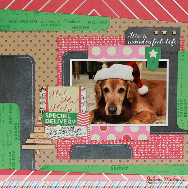 It's A Wonderful Life Scrapbook Page by Juliana Michaels