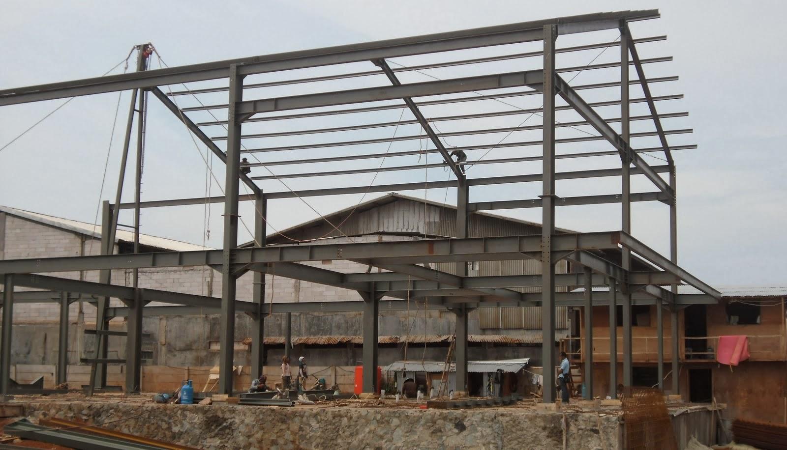 model rangka baja ringan kanopi konstruksi bengkulu & jasa atap ...