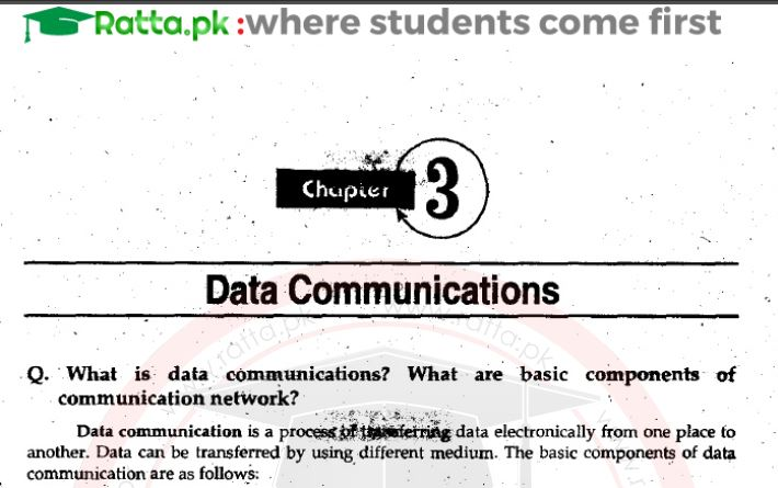 ICS Part 1 Computer Science Chapter 3 Notes pdf - 1st year/11th
