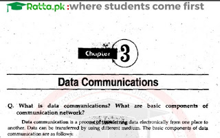 ICS Part 1 Computer Science Chapter 3 Notes pdf - 1st year/11th Class