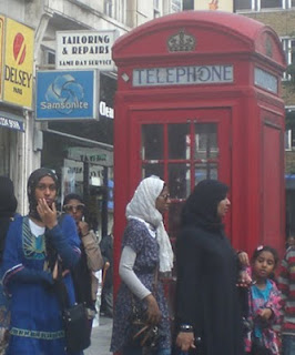 Muslim women in London, UK