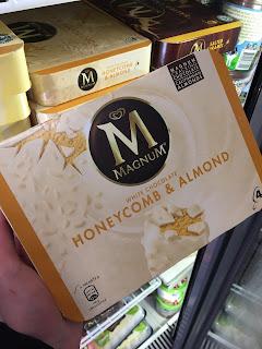 magmum white chocolate honeycomb and almond