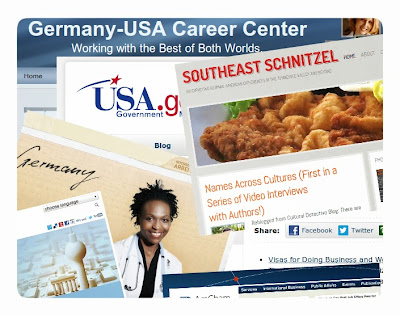 Image: Mashup of homepage excerpts from German and American websites