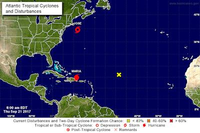 María recupera la categoría 3 en el este de la República Dominicana
