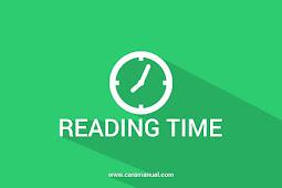 Cara Membuat Reading Time di Blogger