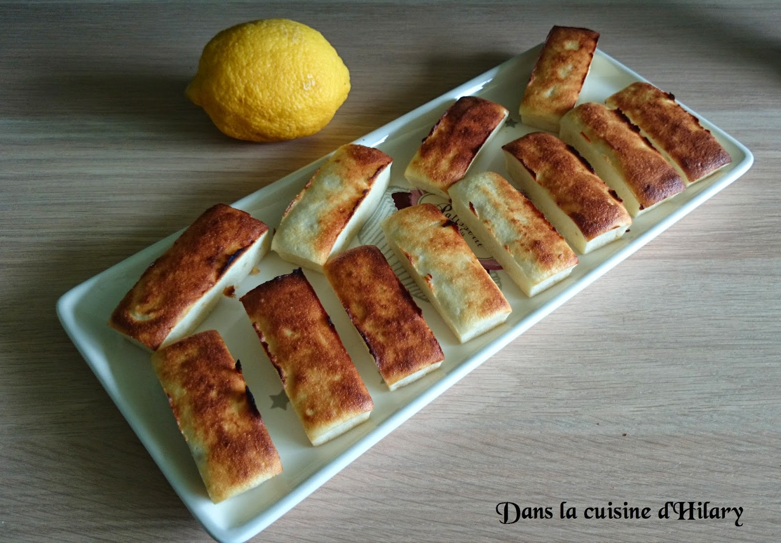 Financier au citron