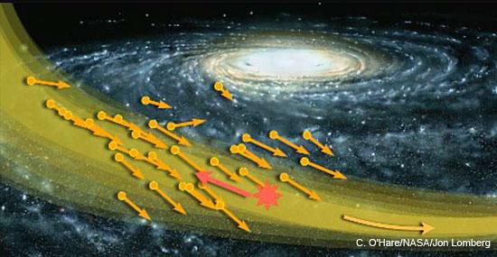'Furacão' de Matéria Escura pode estar passando pela Terra nesse momento - Capa