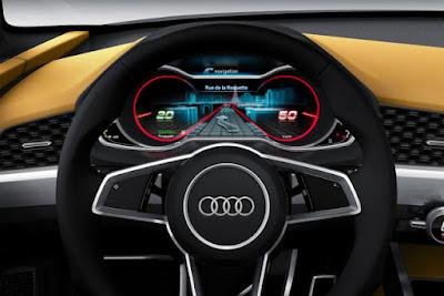 Audi Q8 SUV Concept stearing wheel