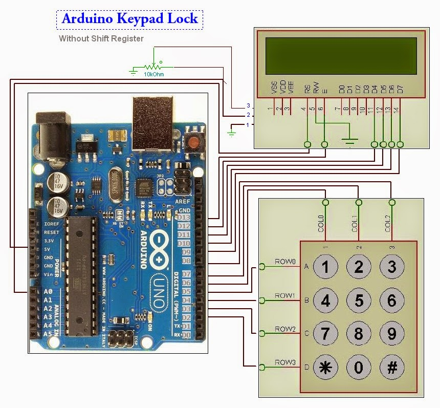 future dreams keypad lock with display using arduino. Black Bedroom Furniture Sets. Home Design Ideas