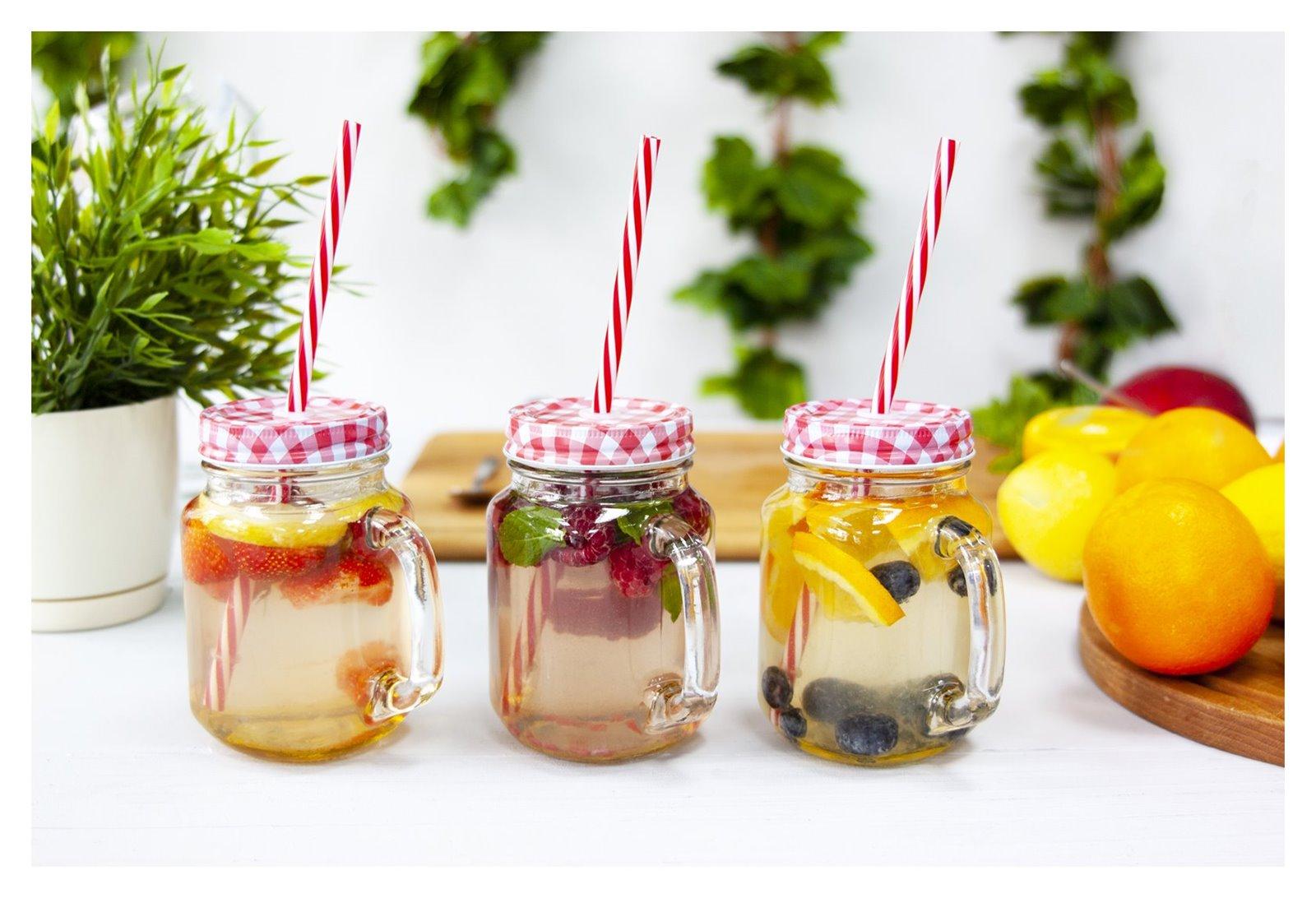 5 owoce sezon na lemoniadę browin jak zrobić pyszne napoje deser pomysły na przekąski na urodziny wakacje przyjęcie lato słoiki duży słój z kranem na lemoniadę słoiki ze słomką z uchem sklep gdzie kupić łódź