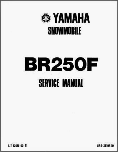 MANUAIS TÉCNICOS: MANUAL SERVIÇO SNOWMOBILE BR250F BRAVO