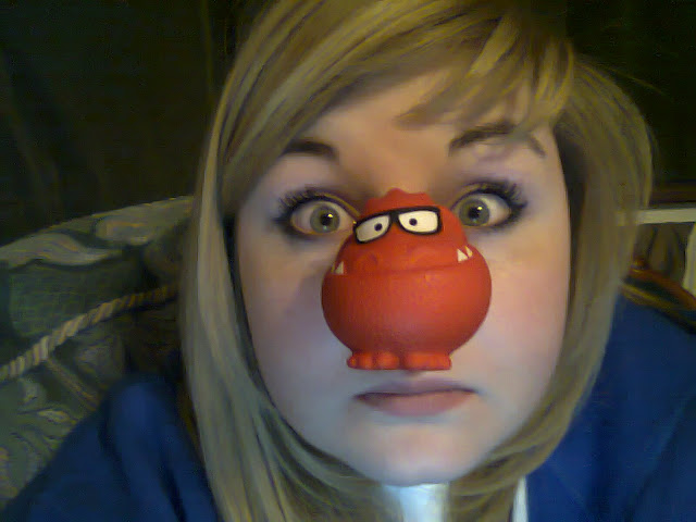 Me looking rather silly wearing a red nose
