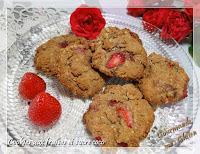 Cookies sans gluten aux fraises et sucre coco