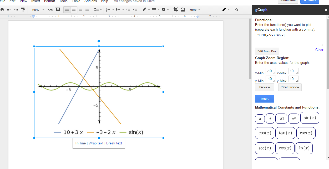 free technology for teachers insert graphs and equations into
