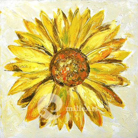 Jual Lukisan Bunga Matahari 50x50cm MB030  milieArt