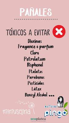 elementos tóxicos que no debería contener un pañal composición pañales blog mimuselina