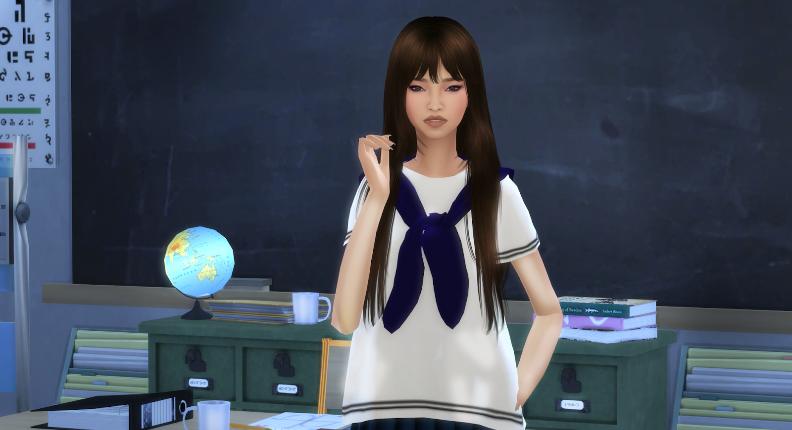 Moon Galaxy Sims The Sims 4 Korean Girl