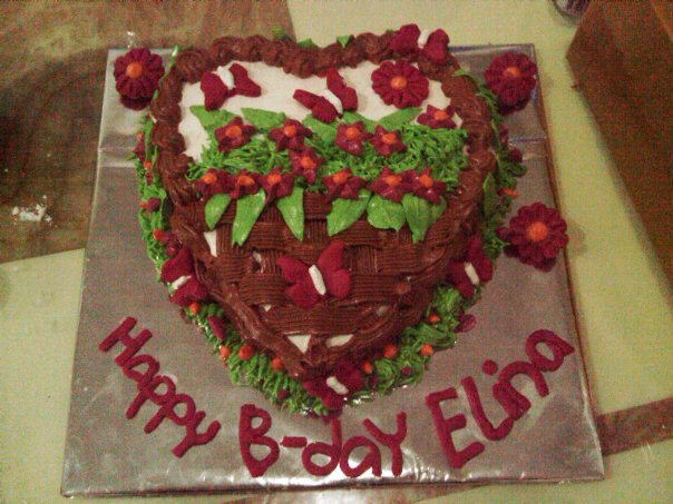 Homemade By Chwin Birthday Cake For Elina