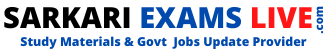 SarkariExamsLive.com : Study Materials and Govt Jobs Update Provider