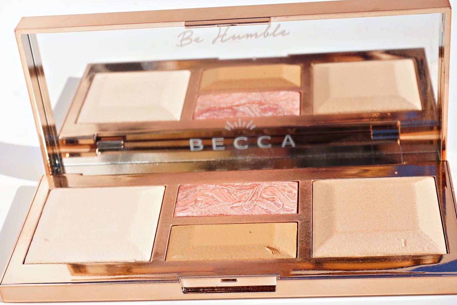 becca be a light palette swatches