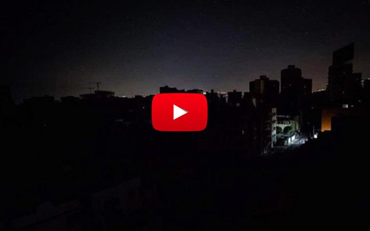 Caracas y Guarenas fueron víctimas de un Mega-Apagón - No Hay Luz!