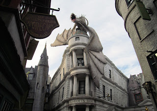 Dragon in the Alley at Harry Potter World at Universal Studios in Orlando, Florida