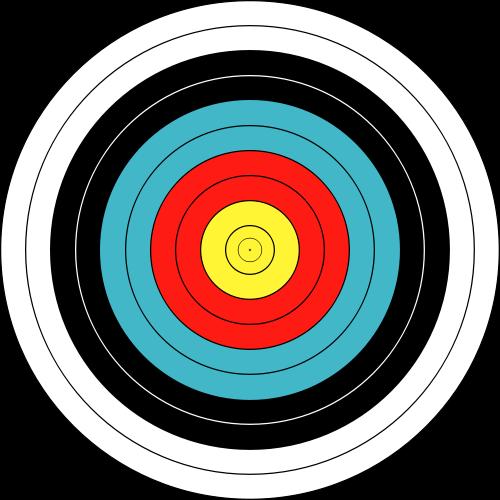 bullseye template printable - excel math math secrets in sports archery
