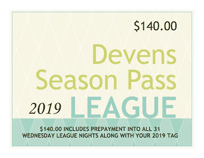 2019 Wednesday Weekly League - Season Passes On Sale Now!