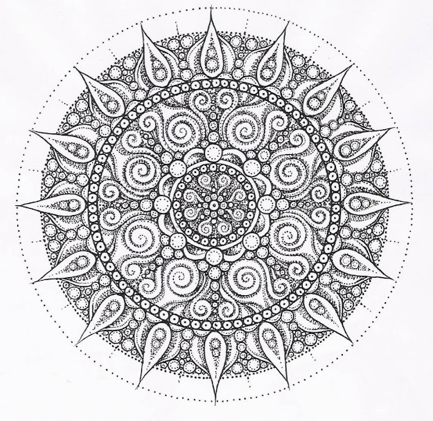 Mandala Coloring Pages Expert Level  Via Hardcoloringpages