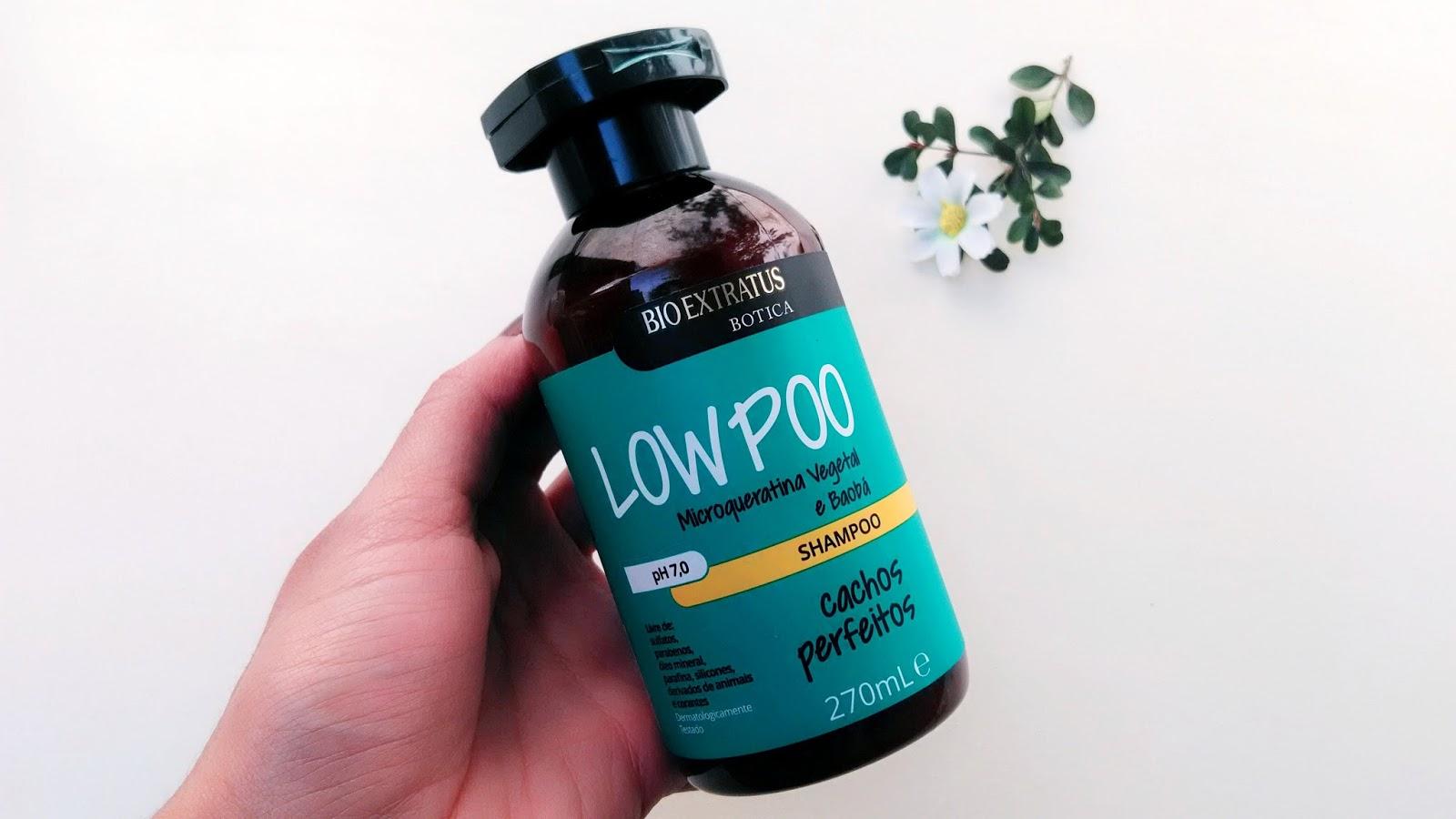 botica cachos shampoo low poo bio extratus resenha