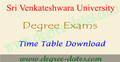 SV University degree time table 2017 svu ug exam results