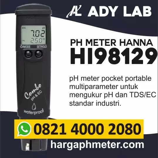 Harga pH Meter Hanna Instruments Pocket HI98129