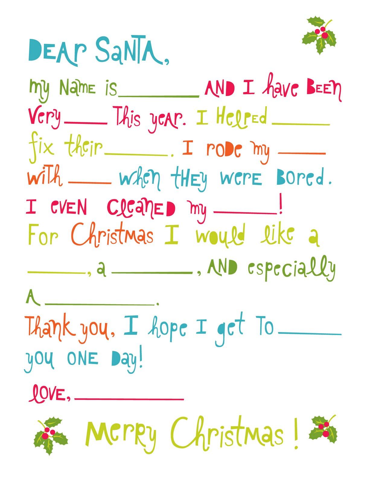 Lemon Squeezy Day Six Santa Letter