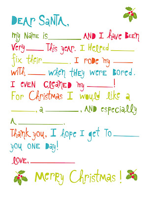 Letters to Santa {Free Printable} - The Crafted Sparrow