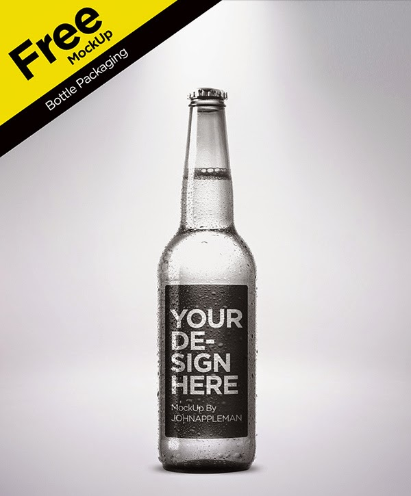 Bottle Packaging PSD Template