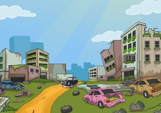 Games2Jolly Car Escape From Dilapidated Area