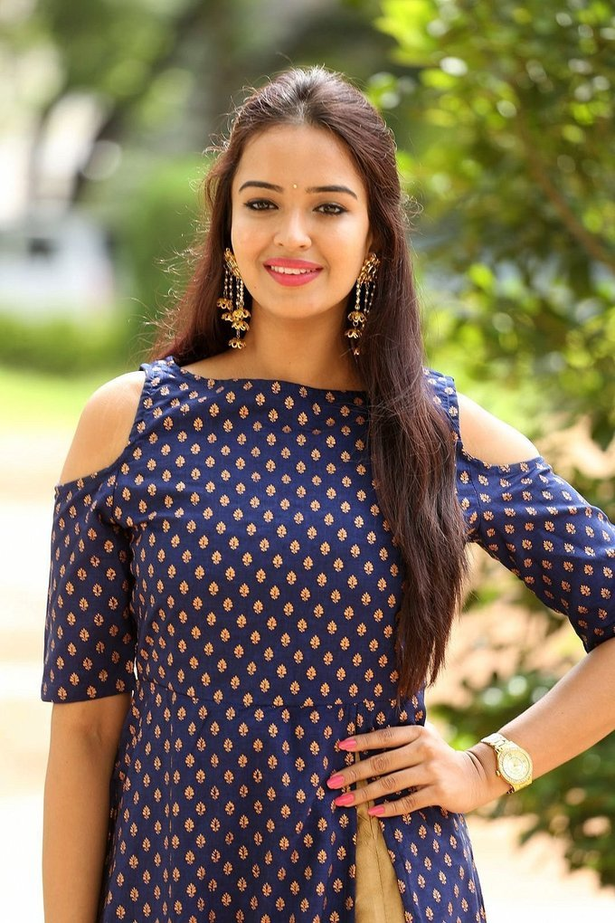 Actress Poojitha at Darshakudu Press Meet Event Stills