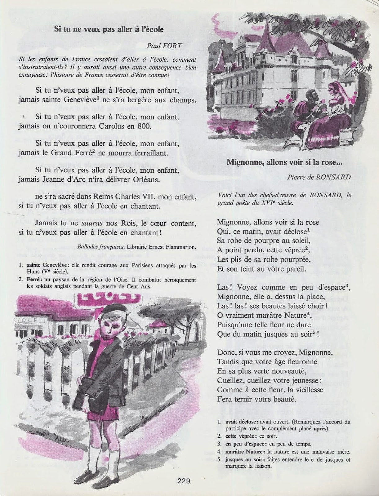 Manuels anciens po mes cm2 - Illustration de la poesie le dormeur du val ...