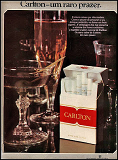 propaganda cigarros Carlton - 1974, souza cruz anos 70, cigarros década de 70, Oswaldo Hernandez,