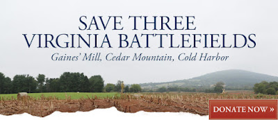 Help Save Three Battlefields in Virginia!