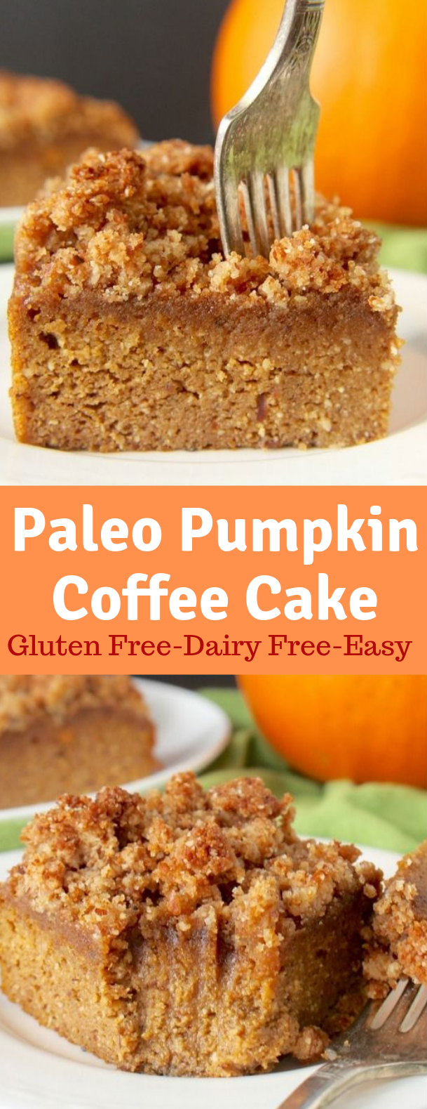 PALEO PUMPKIN COFFEE CAKE #Paleo #Cake