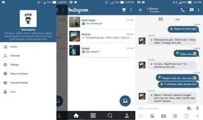 BBM Mod Tema Instagram Terbaru