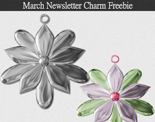 March Newsletter Charm Freebie