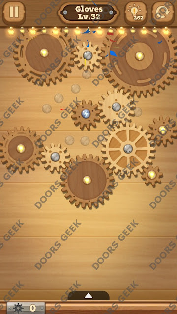 Fix it: Gear Puzzle [Gloves] Level 32 Solution, Cheats, Walkthrough for Android, iPhone, iPad and iPod