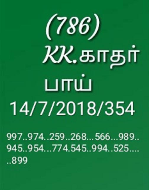 kerala lottery abc final guessing karunya by KK on 14-07-2018