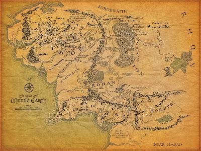 Mapa de la Tierra Media
